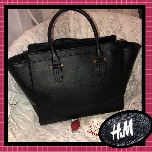 H M Bags   Hm Tote Professional Black Epi Good Condition   Poshmark 165f374eb7